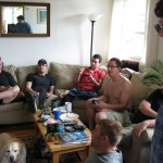 Left to Right: Bill, Steve, Chris, Jason, Pat. Foreground: John and Ben. Dog: Macy